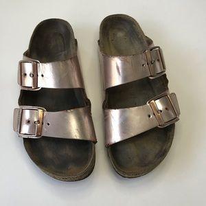 Birkenstock Rose Gold Shoes Size 37